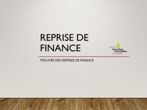rerpise de finance